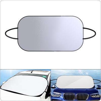 Universal PET Aluminum Foil Front Windshield  Four Seasons UV / Ice / Snow Protector Dustproof Car Clothing Cover