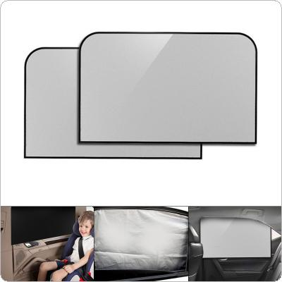 2pcs/pair  Universal Car Side Window Heat Insulation Prevented Bask Shade Screens with Magnet