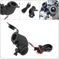 Black 12V to 5V Faucet Car Phone Charger for Motorcycle Universal