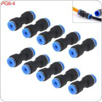 10PCS 6MM 4MM PG6-4 Plastic Straight Through Quick Connector Pneumatic Insertion Air Tube