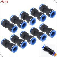 10PCS 16MM PU-16 Plastic Straight Through Quick Connector Pneumatic Insertion Air Tube