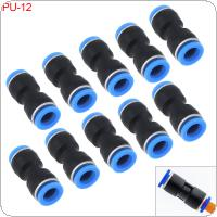 10PCS 12MM PU-12 Plastic Straight Through Quick Connector Pneumatic Insertion Air Tube