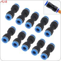 10PCS 8MM PU-8 Plastic Straight Through Quick Connector Pneumatic Insertion Air Tube
