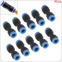 10PCS 6MM PU-6 Plastic Straight Through Quick Connector Pneumatic Insertion Air Tube