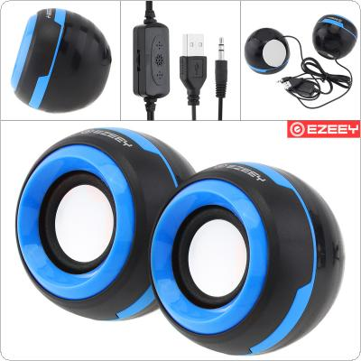 EZEEY Q5 Mini Subwoofer Speaker with 3.5MM Audio Socket and Volume Control for Laptop / Phone / MP3 / MP4