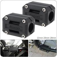 2PCS Black 22/25/28 MM  Bumper Protection Block Anti  Glue for  Honda NC700S NC700X NC750S NC750X 750 XL 700 650 1000 V CB 400 500F / X 600F 750 1000 1100