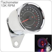 Motorcycle Tachometer 12V Metal Case LED Electronic Speedometer for Motorcycle Universal