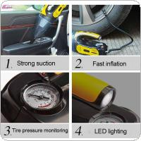 12V 120W 4 In 1 Universal Portable Multi-function Car Dry Wet Dual-purpose Dust Absorption Inflator Pump with Light Support Tire Pressure Monitoring