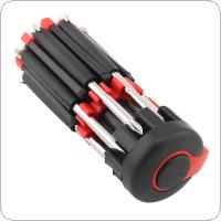 8 in 1 Multi Screwdriver With 6 LED Torch Hand Repair Tools Up Multi Functional for Home Appliance Car