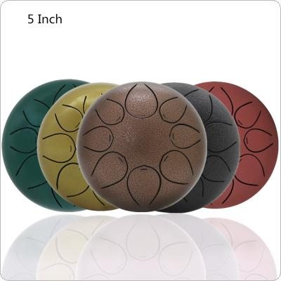 5 Inch Hand Size Ultralight 560g Tongue Drum 8 Notes with Bag and Drum Sticks 5 Colors Optional