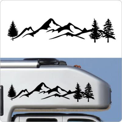 100 x 20CM PVC 2 Colors Mountain Forest Pattern Car SUV Body / Bumper / Hood / Scratch Sticker