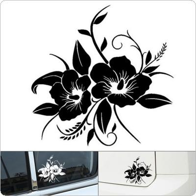 18 x 19CM PET Flowers Full Bloom Pattern Outdoor Reflective Car Body / Bumper / Hood / Scratch Sticker