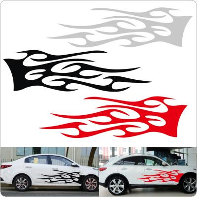 2pcs/pair 150 x 42CM PVC 3 Colors Flame-style Totem Creative Refit Car Racing Side Body Sticker