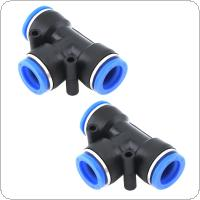 2pcs 14mm T Shaped APE Plastic Three-way Pneumatic Quick Connector Pneumatic Insertion Air Tube for Air Tool Quick Fitting