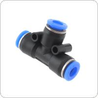 2pcs 8mm T Shaped APE Plastic Three-way Pneumatic Quick Connector Pneumatic Insertion Air Tube for Air Tool Quick Fitting