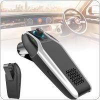 BT15 Dual USB Sun Visor Universal Car Bluetooth Handsfree Car Kit Car Audio MP3 Player with Speaker Support Charger AUX