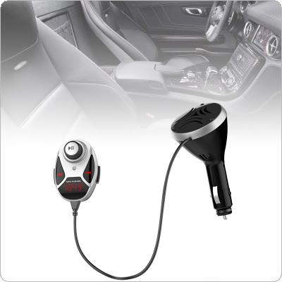 BT12 Dual-USB Bluetooth FM Transmitter Audio Car Mp3 Player Wireless In-Car FM Modulator Handsfree Car Kit with Independent Speaker