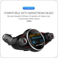 BT08 Dual USB Bluetooth FM Transmitter Handsfree Audio Car Mp3 Player Wireless In Car FM Modulator with LCD Display / Quick Charge