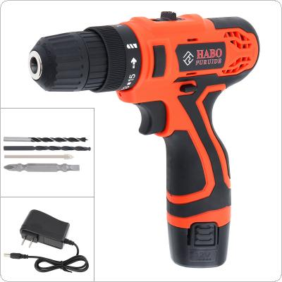 AC 100 - 240V Cordless 12V Black Electric Drill / Screwdriver with Li-ion Battery Display Screen and Two-speed Adjustment Button for Handling Screws / Punching
