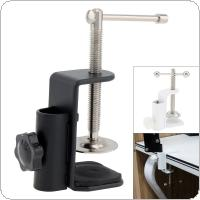 Aluminum Alloy Cantilever Bracket Clamp Holder Metal Desk Lamp Clip Fittings Base Hose with 12MM Hole Diameter and Non-slip Mat for Mic Stand
