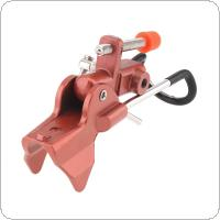 Adjustable Stainless Steel Fishing Rod Stand Red Metal Handle Support Holder for Handle / Telescopic Rod