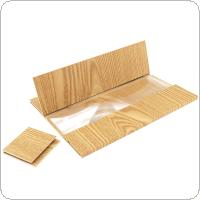 4 X 12 Inch Portable Golden Wood Grain PMMA + Fiber Board 3D Video Mobile Phone Screen Magnifier with Mobile Phone Bracket