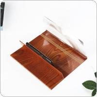 4 X 12 Inch Portable Brownish Red Wood Grain PMMA + Fiber Board 3D Video Mobile Phone Screen Magnifier with Mobile Phone Bracket