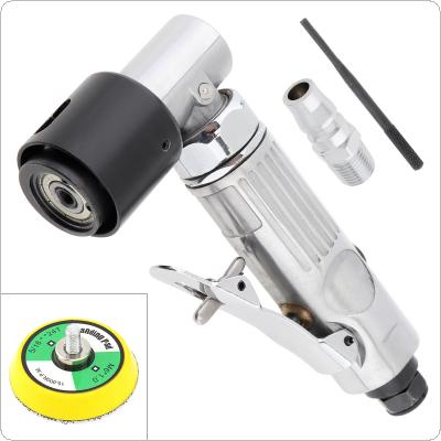 2 Inch 15000rpm Handheld Eccentric Pneumatic Right Angle Sander with Inlet Connector and Sanding Pad for Deburring / Polishing / Grinding