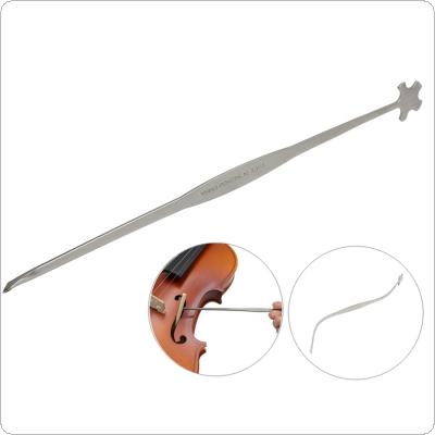 Flexible Metal Violin Sound Post Setter Violin Column Hook Luthier Gauge Install Tool