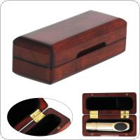 11.3 x 4.5 x 3.7cm Rosewood Saxophone Clarinet Mouthpiece Storage Box Protect Case Lining Villi