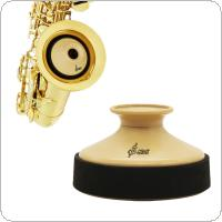 Alto Sax Accessories Kit with ABS Saxophone Mute + Rubber Protector Silencer Ring + 10pcs Reeds