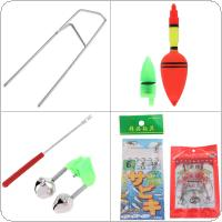 2.4m Automatic Fishing Rod Reel Line Combo Full Kits with Carp Fishing Lures Fishing Float Hooks Beads Bell Lead Weight Etc