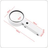 11X ABS + Acrylic Optical Lens Desk Top Multifunctional Foldable Rechargeable Magnifier with 8 LED Light for Reading and Inspection