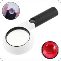 20X Portable Annular Handheld Magnifier with 11 LED Lights  for Antique Viewing / Reading / Jewelry Identification