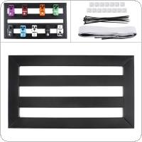 47 x 27cm Guitar Pedal Board Setup Bigger Style DIY Guitar Effect Pedalboard with Installation Accessories