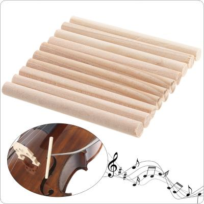 10pcs Spruce Wood Violin Sound Post for 3/4 & 4/4 Violin