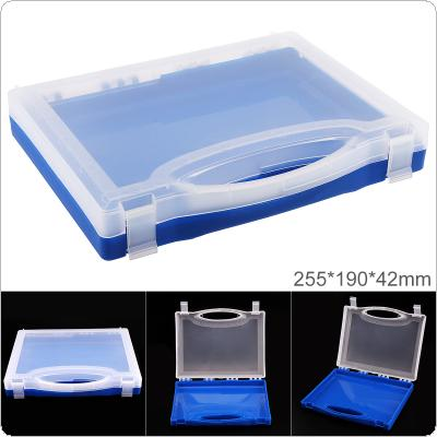 10 Inch PP Plastic Portable Handheld Multifunctional Sample Tool Box Storage Box with 255mm Length and 190mm Width for Hardware Accessories