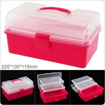 9 Inch PP Plastic Portable Multifunctional Handheld Three Layer Tool Storage Box with 225mm Length and 130mm Width for Hardware Accessories