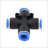 2pcs 10mm Cross Type APE Plastic Four-way Pneumatic Quick Connector Pneumatic Insertion Air Tube for Air Tool Quick Fitting