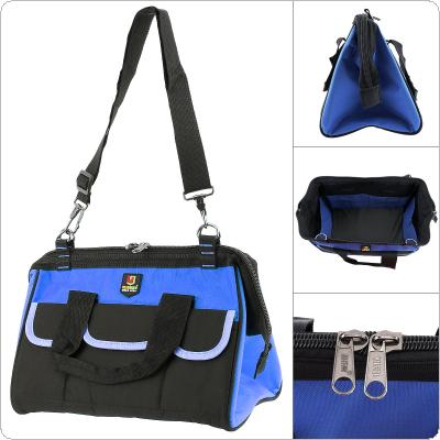 14 Inch Multifunctional Oxford Cloth Waterproof Hand Shoulder Dual-purpose Tool Bag with 18 Pockets and Adjustable Single Hanging Strap for Maintenance Tools