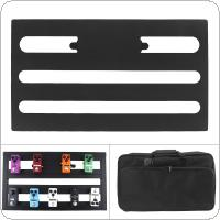 KOKKO 56 x 31cm Guitar Pedal Board Setup Style DIY Guitar Effect Pedalboard Support Placed 10-14 Effects with Bag