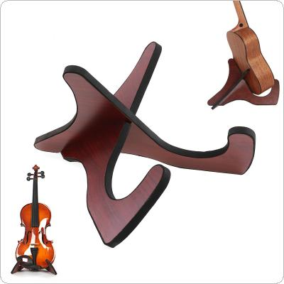Portable Ukulele Violin Wooden Foldable Holder Stand Collapsible Vertical Display Stand Rack Accessories