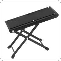 Metal Folding Guitar Footstool Rest Anti-Slip Stand Height Adjustable Foot Rest Stand Footboard