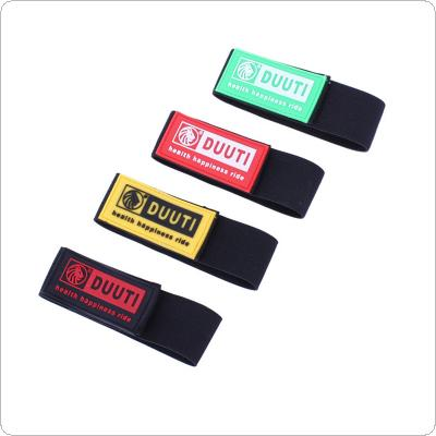 DUUTI  2PCS  Black Bicycle Elastic Ankle Leg Bind Wrist Safety Band Pants Clip Strap Suitable for Jogging Cycling