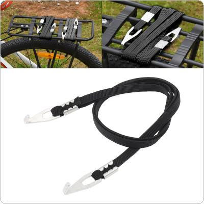 80CM Black Bicycle Luggage  Bundle of Elastic Rope Strap Tie with Fixed Hook Tape