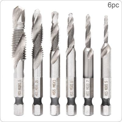 6 Pcs Hex Shank HSS Screw Screw Point Metric Thread Male Drill