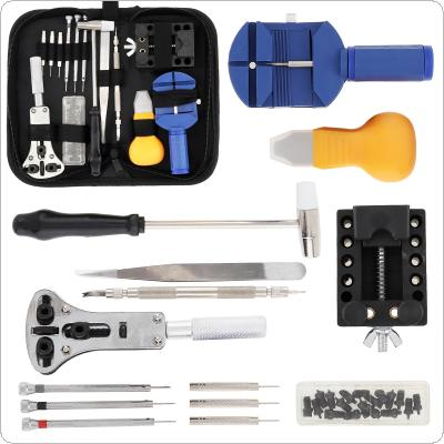 14pcs / set Multifunction Precision Watch Opening Repair Combination Tools with Storage Canvas Bag for Home / Office Use