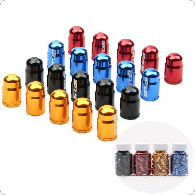 GUB 50PCS 4 Colors  Aluminum Alloy American Tyre Air Valve Caps Dust Cover for MTB Road Bike Motorcycle Bike Accessories