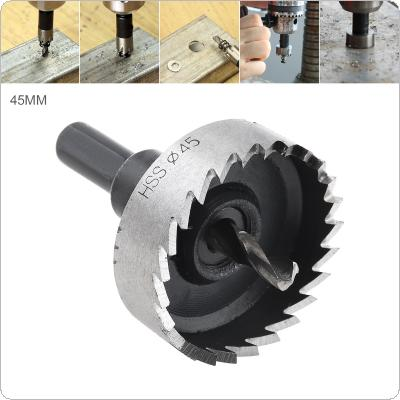 45mm HSS Hole Saw Cutter Drill Bits for Pistol Drills / Bench Drills / Magnetic Drills / Air Gun Drills