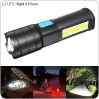 Highlight Mode 4 Hours L2 LED 5V COB Zoomable USB Multi-functional Flashlight Waterproof Maintenance Emergency Work Light for Camping / Hunting